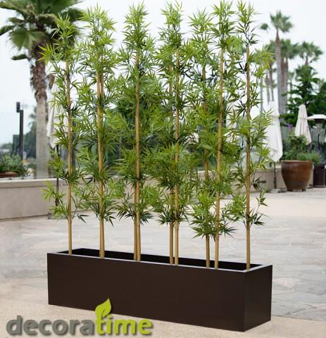 fiber saksı bambulu