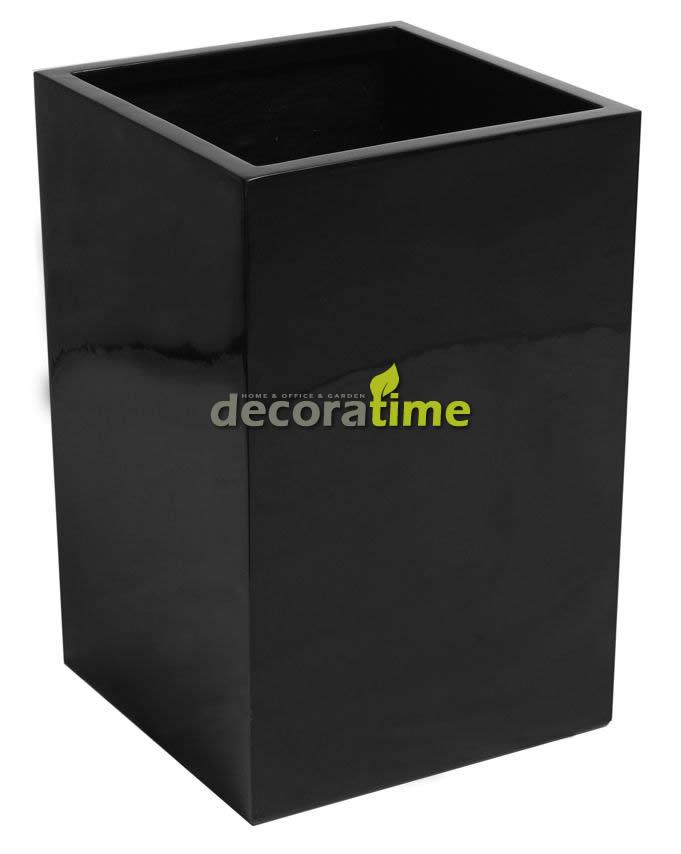 fiberglass-saksi-pot-havana-siyah