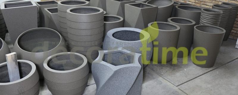 granit dokulu fiber saksılar