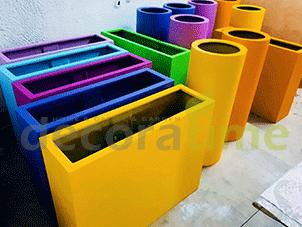 renkli saksı-rengarenk saksı - fiber saksı